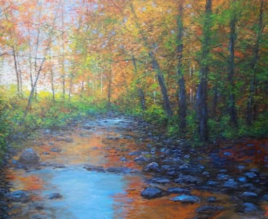 James Scoppettone, Mystic Creek In Autumn30x48