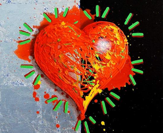 James Jensen, Orange Heart 10224