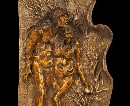 Gib Singleton, Adam and Eve Bas Relief Small