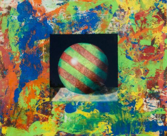 James Jensen, Green Red Bocce Ball 00195