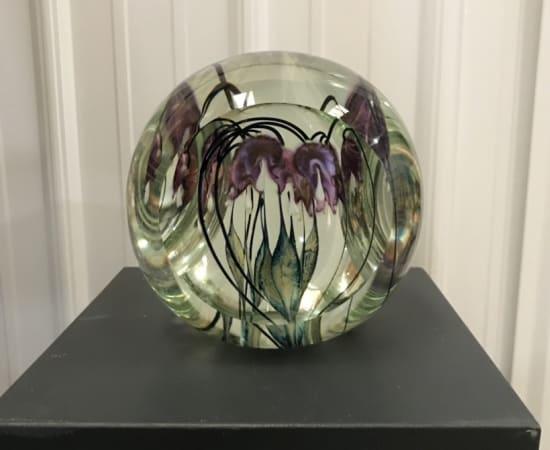 Tim Lotton, Tri-Faceted Purple Bleeding Heart Sculpture