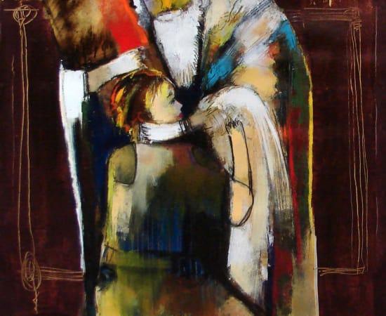 Helen Zarin, Rabbi Blessing the Boy