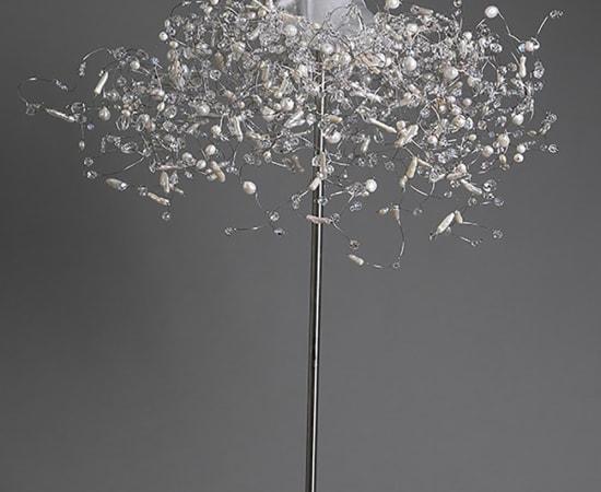 Estella Fransbergen, Glass Torso with Pearls, Quartz and Swarovski Crystals