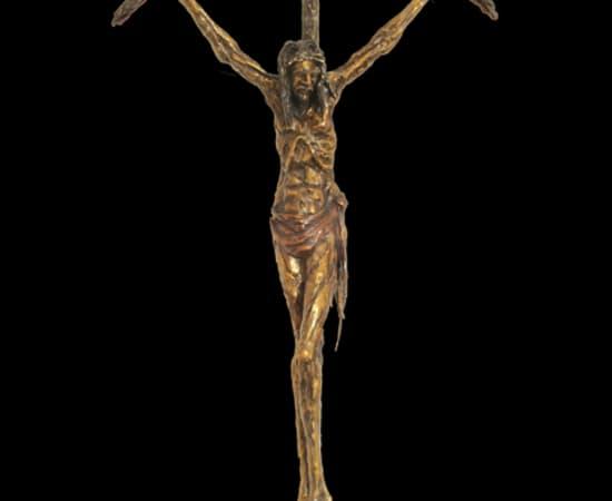 Gib Singleton, Bowed Crucifix 55' (Hanging)