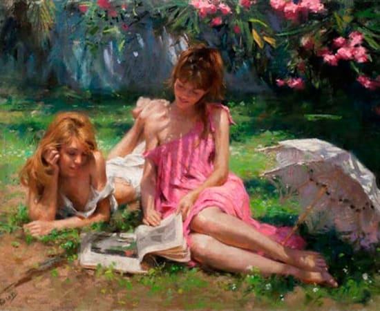 Vicente Romero, Lectura en el Jardin