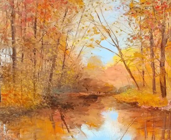 James Scoppettone, Late Autumn Reflection