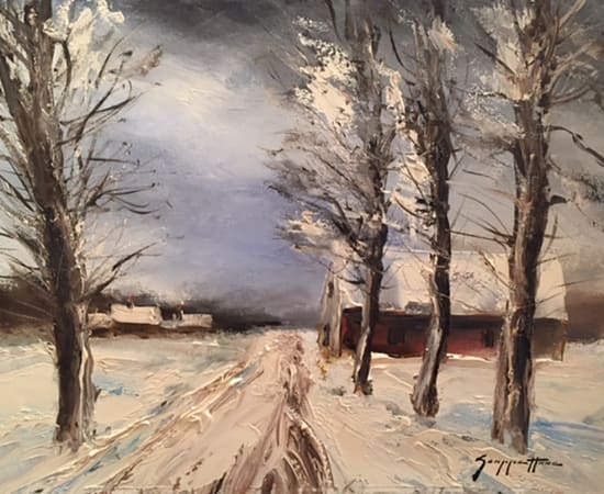 James Scoppettone, Snow On The Covered Cottages