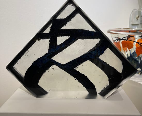 Tim Lotton, Obsidian and Crystal Cast Glass