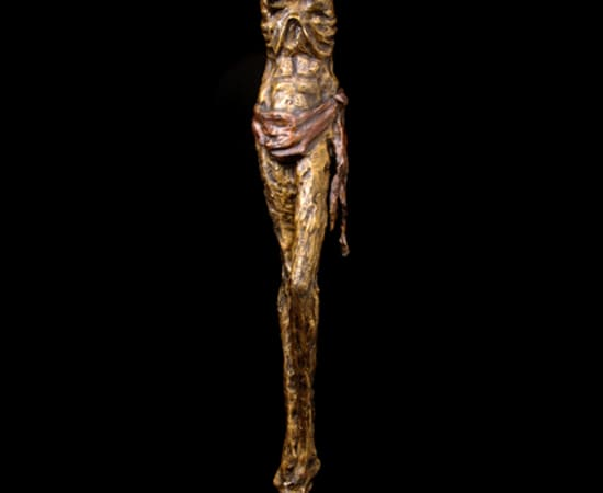 Gib Singleton, Bowed Crucifix 108' (Standing)