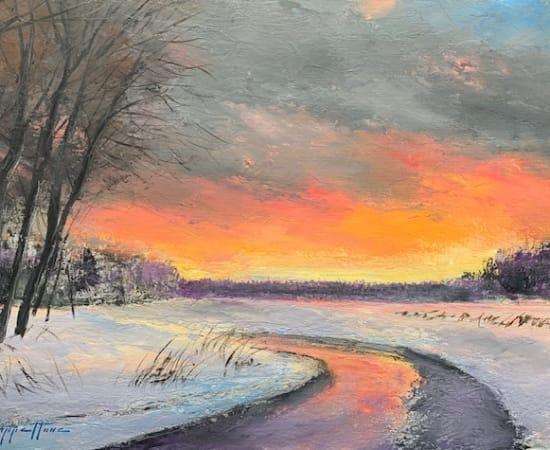 James Scoppettone, Snowy Sunset