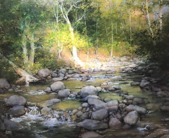 Dean Bowlby, Morning Sun Along the Creek