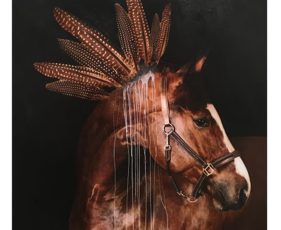 Anke Schofield, Red Horse Feathers VI
