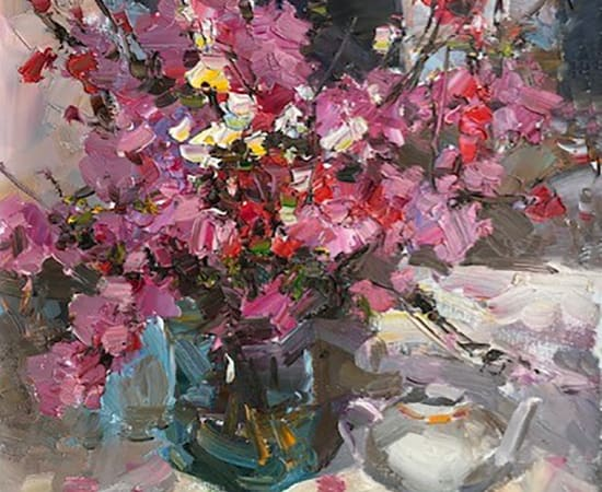 Alex Shabadei, Still Life with Red Pot