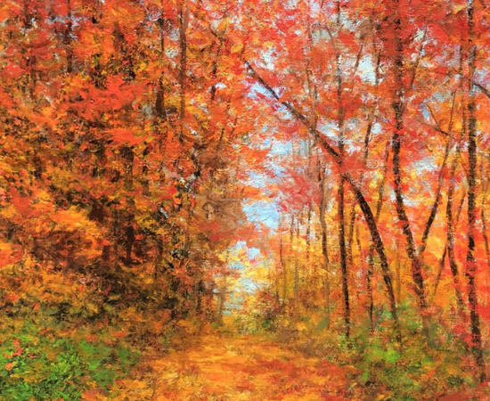 James Scoppettone, Fall Leaves Over The Path