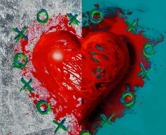James Jensen, Heart Red & Turquoise