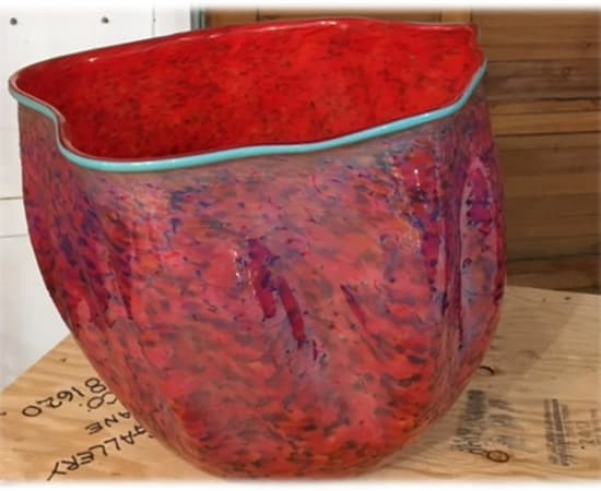 Robert Kaindl, Platinum Crimson Turquoise Lip Wrap