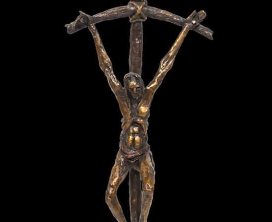 Gib Singleton, Bowed Crucifix 17' (Hanging)