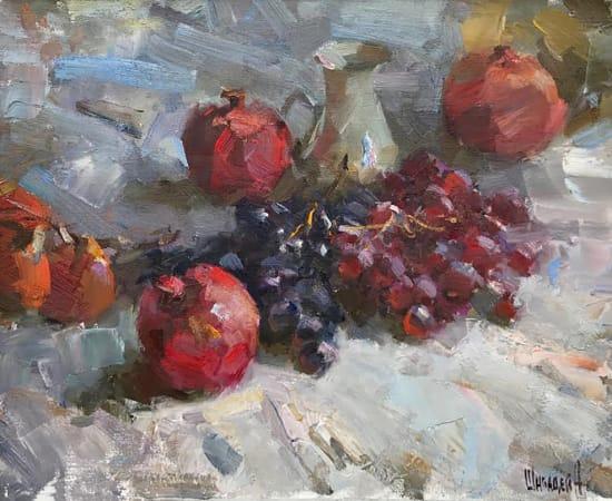 Alex Shabadei, Still Life with Fruits