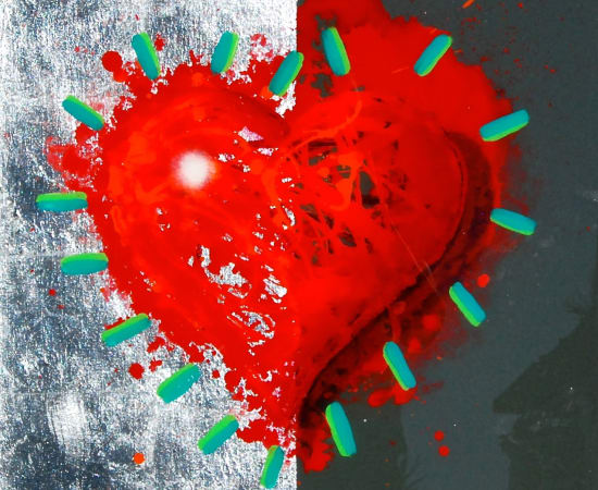 James Jensen, Heart Red & Grey 10232