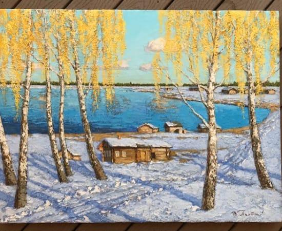 Vladimir Pentjukh, Village On The Lake
