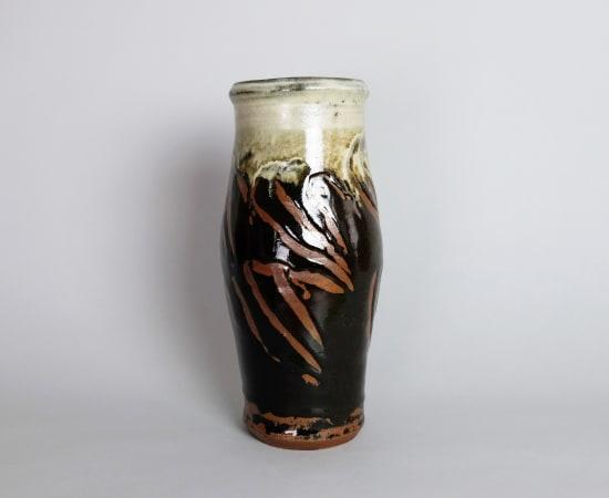 Hamada Shoji 濱田庄司, Tenmoku Glazed Vase 天目掛分花瓶