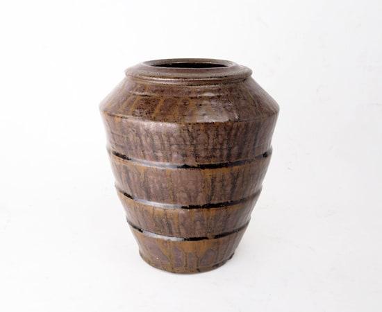 Hamada Shoji 濱田庄司, Irabo Glazed Jar 伊羅保釉壺
