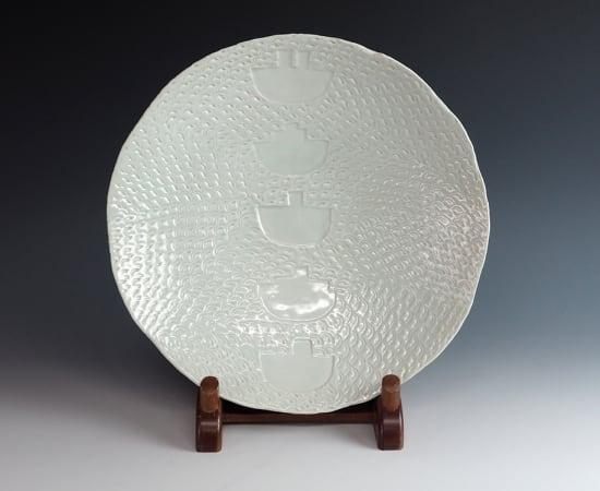 Suzuki Osamu 鈴木治, Celadon Plate -Boat- 平鉢 舟, 1978