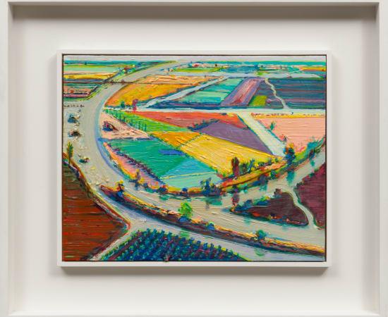 Wayne Thiebaud, River Bend Farms, 1996