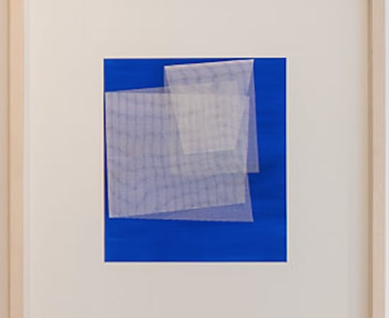 TOM HENDERSON, Moiré - Cerlean Blue, 2019