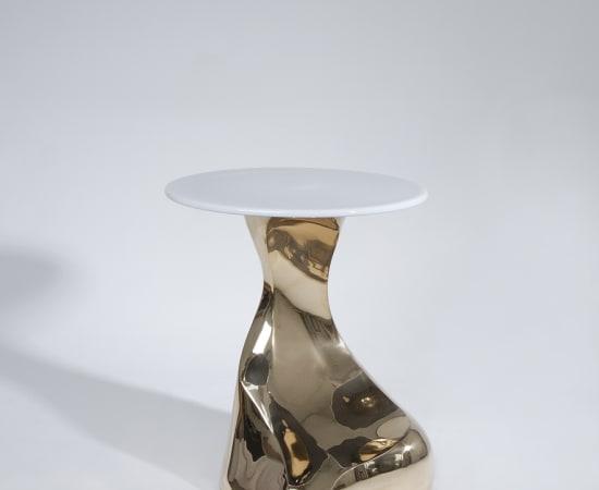 ERIC SCHMITT, Guéridon 'Stromboli' bronze poli