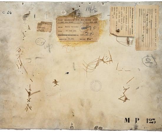 PHILIPPE GRONON, Verso n°52, Composition au gant, par Pablo Picasso, collection Musée national Picasso-Paris , 2016