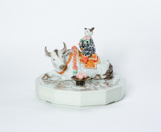 Ruri Takeuchi, White Cow and Peach 'Seioubo', 2020
