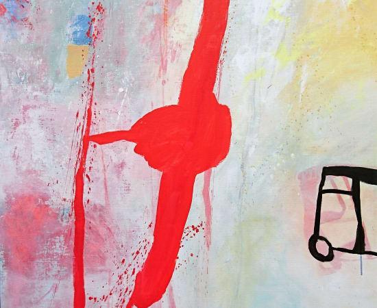 LARS RYLANDER, Untitled Red Stripe