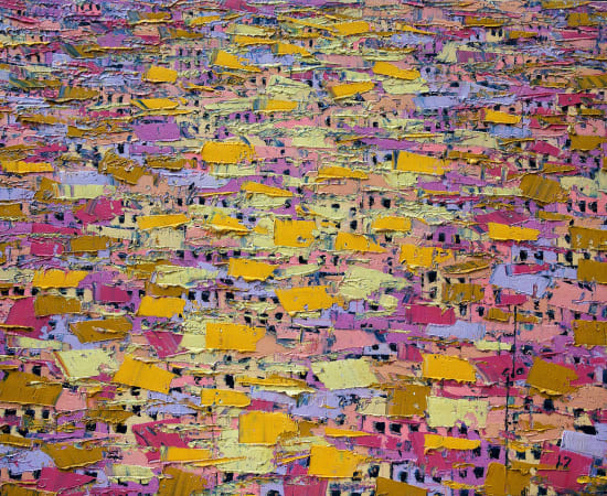 Ablade Glover, Pink Townscape, 2017