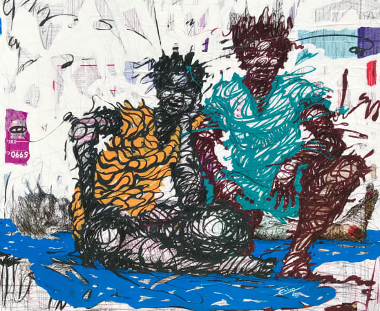 Cedric Tchinan, Bleu-blanc, 2020