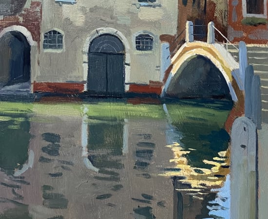 Daisy Sims Hilditch, Evening Light Reflection, Quiet Evening on the Dosoduro
