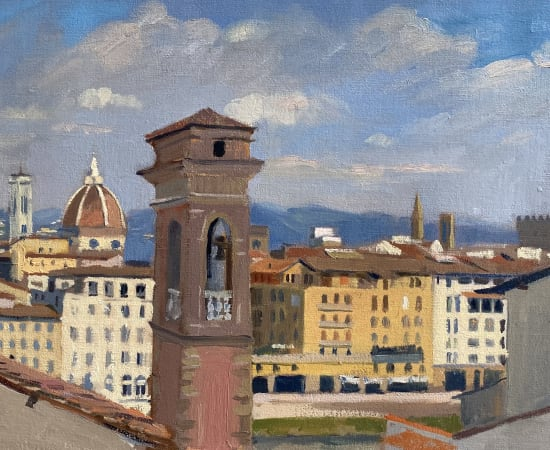 Daisy Sims Hilditch, Florence Rooftops & the Distant Duomo