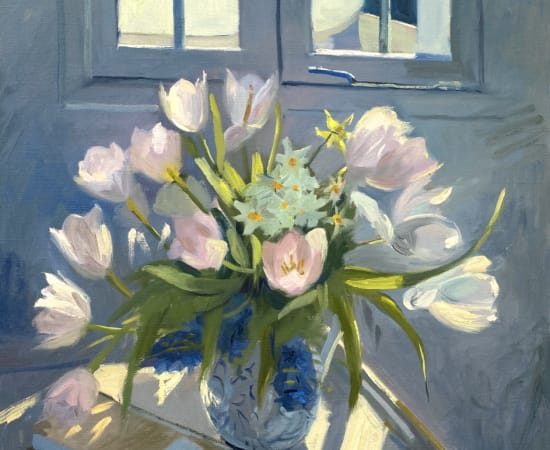 Daisy Sims Hilditch, Spring Light on Tulips