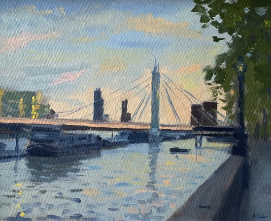 Daisy Sims Hilditch, Summer Evening Light, Albert Bridge