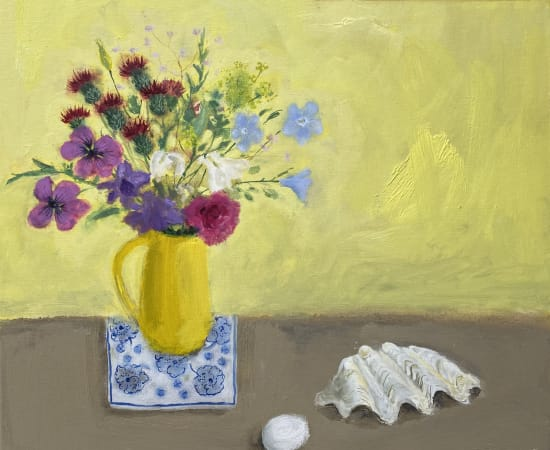 Gillian Gathercole, Summer Flowers and Shell
