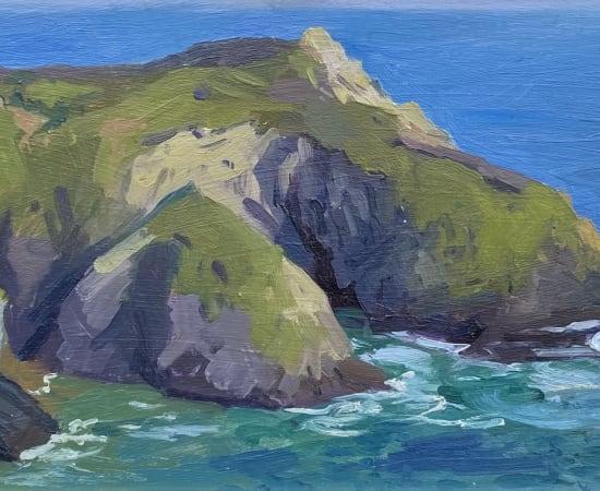 Daisy Sims Hilditch, Evening Light & Crashing Waves Roseland Peninsula