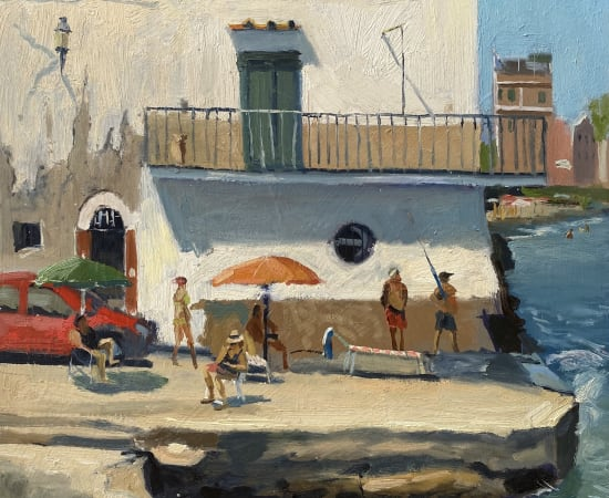 Daisy Sims Hilditch, Ischia, Afternoon Fishing