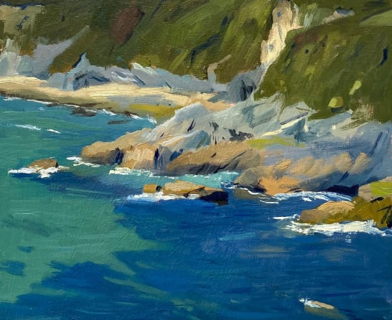 Daisy Sims Hilditch, Clear Waters from a Clifftop near Bohorha, Roseland Peninsula