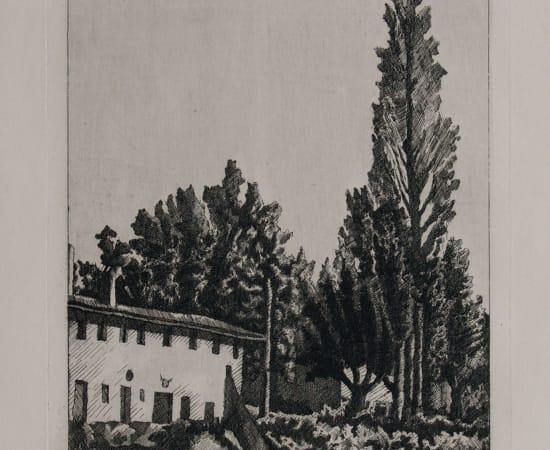 Giorgio Morandi, Paesaggio con il grande pioppo, 1927