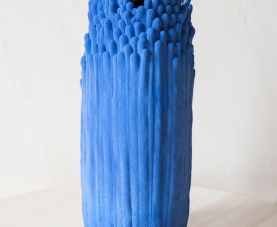 Cécile Bichon, Moyen Vase Blue - Noir