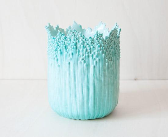 Cécile Bichon, Cache-pot ascensionnel floral celadon