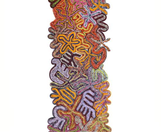 Simone Post, Flowerfield - Pink Totem