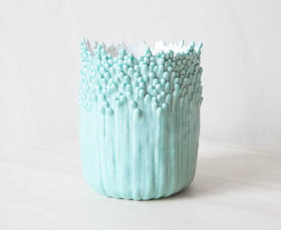 Cécile Bichon, Cache-pot ascensionnel floral M celadon