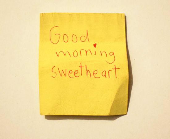 Jessi Strixner, Post its - Good morning sweetheart