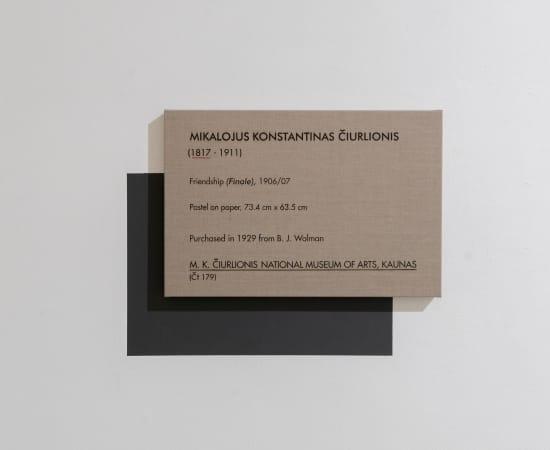 Dag Erik Elgin, La Collection Moderne (Ciurlionis Friendship / Finale), 2020